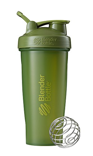 BlenderBottle Classic Loop Top Shaker Bottle, 28-Ounce, Moss Green/Moss Green (The Best Blenders For Green Smoothies)