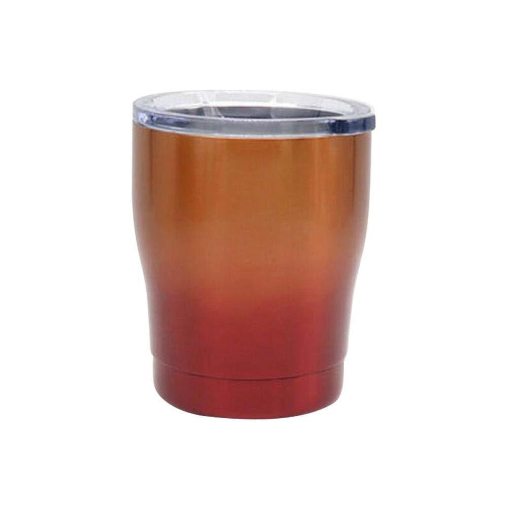 multifunktionaler Getr/änkebecher. haltbares Weinglas getherad / Milch Cup Robustes New Gradient Style 10 Unzen Vakuum 304 Edelstahl K/älteschutzglas Bierglasbecher