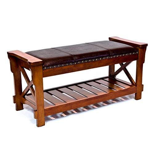 - All Things Cedar HR360 Entryway Bench, Cherry