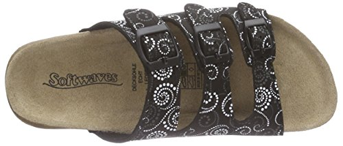 Softwaves 274 138 Damen Pantoletten Schwarz (Black Multi 099)