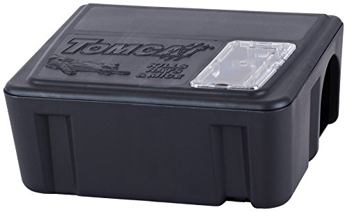 Tomcat Rat & Mouse Killer Refillable Bait Station - Child and Dog Resistant (1 Station, with 15 Baits), Each Bait Block Kills Up to 3 Rats (Based on No-Choice Laboratory Testing)