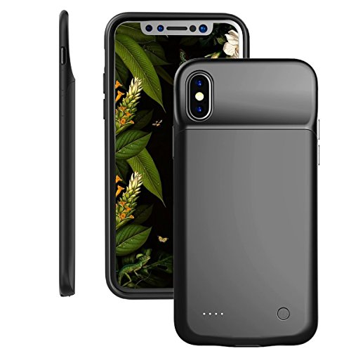 iPhone X Battery Case,Fit Lightning Headphones, i.VALUX 3200mah Ultra Slim Light Portable Charging Case for iPhone 10 Extended Battery Pack Power Bank Protective Cover Charger Case (Black)