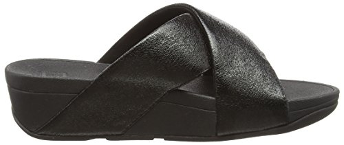 Fitflop Abierta Metal Con Sandalias Negro Punta 001 Slide Molten Para Lulu Mujer black CwqnxrCAB