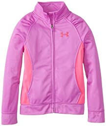 Under Armour Little Girls\' Time Out Track Jacket, Exotic Bloom, 4