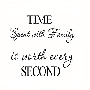 """""""TIMe SeCOND"""" alphabetic letters Hand-painted removable wall sticker"""