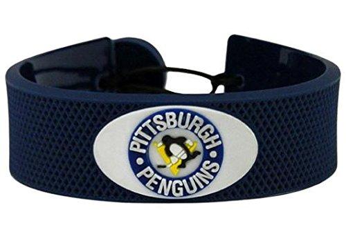 Bracelet Gamewear (GameWear Pittsburgh Penguins Vintage NHL Team Color Hockey Puck Rubber Bracelet)