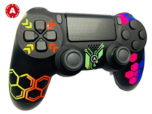 AimControllers PS4 Custom Wireless Controller, Playstation 4 Personalized Gamepad with 4 Paddles - Hive 2