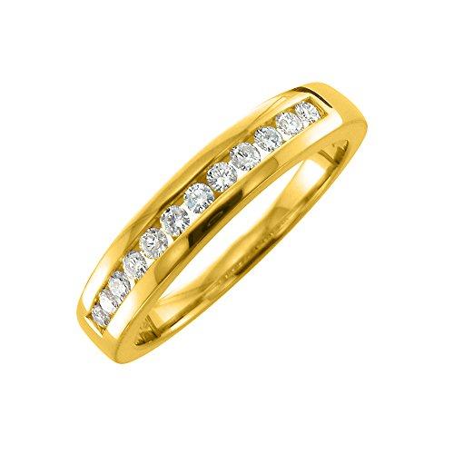 Diamond 14ky Mens Ring - 1