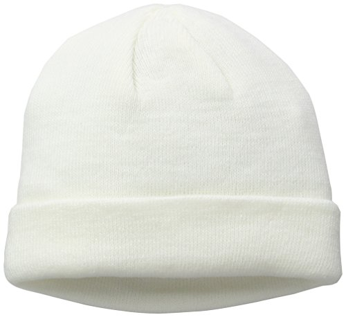 Unisex Beanie Cuff Adulto white Gorro Punto Knit Weiß 5036 MSTRDS de Short xnR5Ox0w