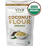 Viva Naturals Organic Non-GMO & Gluten-Free Coconut Flour, 1.81 kg, Perfect for Bread Mixes, Baked Goods & Other Treats