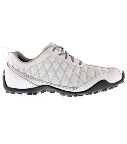 FootJoy Superlites Women's Golf Shoes 98819 White/Silver 10 Medium