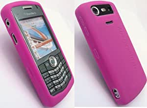 GENUINE BLACKBERRY 8110/8120/8130 PEARL HOT PINK SILICON SKIN CASE IN RETAIL PACKAGING