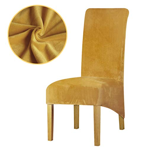ROGEWIN Chair Covers Plain Velvet XL Sizes for Restaurant Hotel Party Banquet Kitchen Household Wrap Angle Seat Case ()