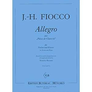 Amazon.com: Fiocco, Joseph-Hector - Allegro - Violin and