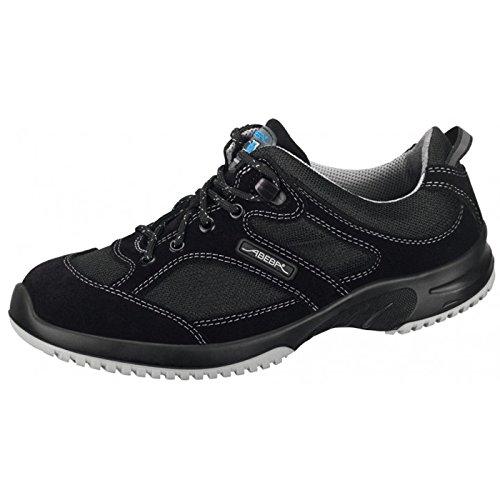 """Abeba 31721-48 talla 48"""" zapatos seguridad ESD-uni6 pulgada bajo - negro"""
