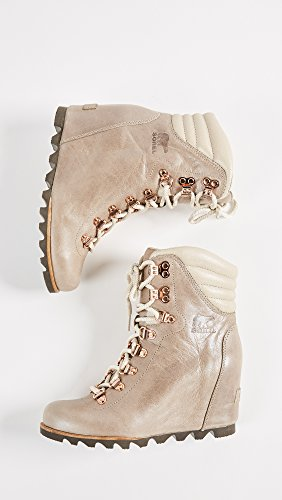Sorel Women's Leather Conquest Wedge Holiday Boots Fawn Beach Fawn free shipping outlet new styles outlet fast delivery cheap sale best wholesale clearance with mastercard TSJmNha