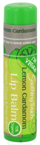 Soothing Touch Lemon Cardamom Vegan Lip Balm, 0.25 Ounce - 12 per case. ()
