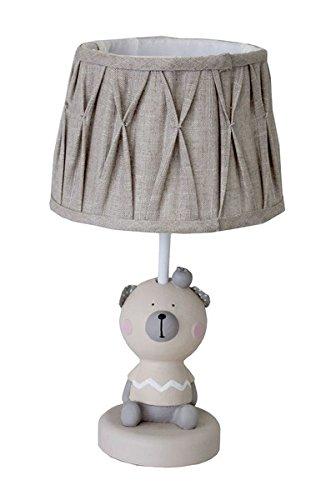 Keyhome Lámpara de mesa de madera estilo rústico Shabby diseño ...