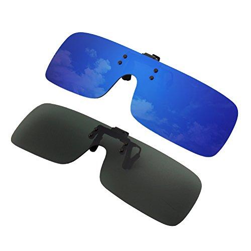 polarisées JP68 Pièce conduite sans GQUEEN la l'extérieur et Foncé pour pèche Paires les Vert activités amp; Lunettes à lentilles de Deux Bleu la Une monture qw0Rt