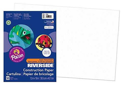 Riverside 3D Construction Paper, White, 12