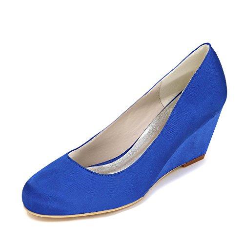L@YC Frauen High Heels Slope mit Hochzeit Schuhe Anpassung 9140-01 Party & Schuhe mehr Farben Blue