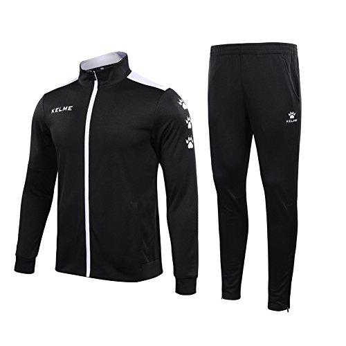 アウターの面ではつぼみKELME 男性サッカー訓練用運動セットニットジャケットとズボン