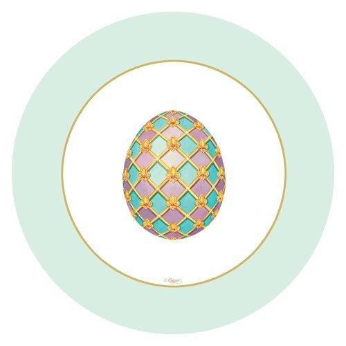 Easter Paper Plates Dessert Plates Salad Plates Easter Egg Hunt Imperial Eggs 8'' Plates Pk 16