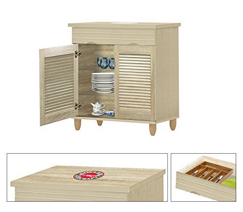 Arts Sideboard Crafts And (NEW! Kitchen Buffet Hutch with Drawer in a Beige Whitewash Finish Featuring the Choice of Your Favorite Vintage Gas Themed Logo Decal-KITCHENWARE NOT INCLUDED (Sinclair Aircraft))