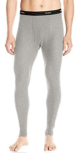 (Hanes Men's Big Red Label X-Temp Thermal Pant, Heather Grey, Medium)