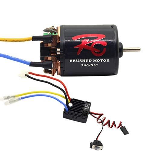 Livoty RC Truck Vehicle Parts 540 21/ 27/35/45/55/80T Brushless Motor with 60A ESC Combo for RC Rock Crawler Car