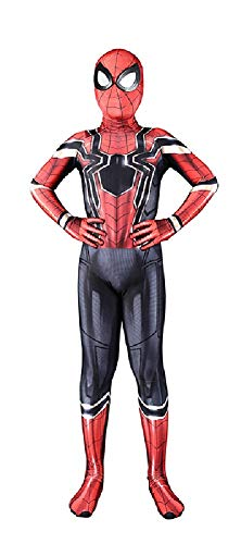 RELILOLI Spiderman Costume for Kids Unisex Size (Kids-L(120-130cm), Iron Spider)