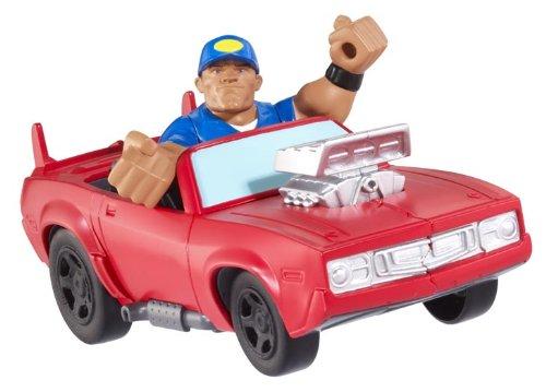 WWE Rumblers Slam City John Cena Launch ?N Crash Car Playset by WWE