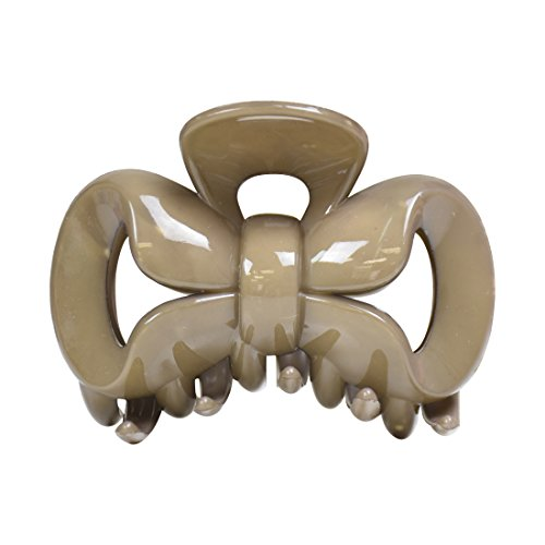 3.5 Inch Bow Jaw Clip Hair Claw - Taupe
