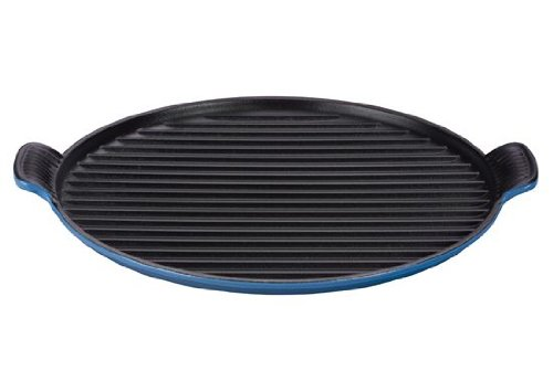 Le Creuset Dishwasher Safe Grill - Le Creuset Enameled Cast Iron Bistro Grill Pan, 12-2/3-Inch, Marseille