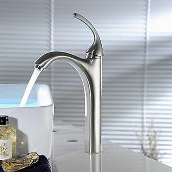 GDS Wasserhahn,Waschtischarmatur gebürstet Nickel Badezimmer ...