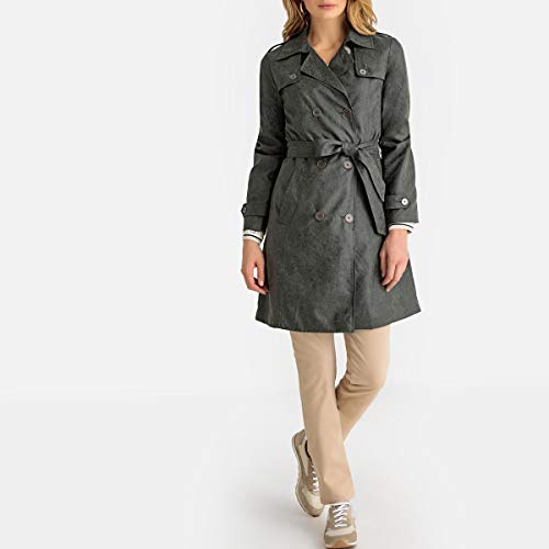 La Redoute Womens Animal Print Trench Coat Green Size US 20