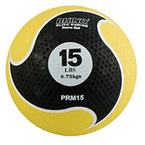 Champion Sports Rhino Elite Medicine Ball, Yellow Handle, 8-Feet (2 lb.)