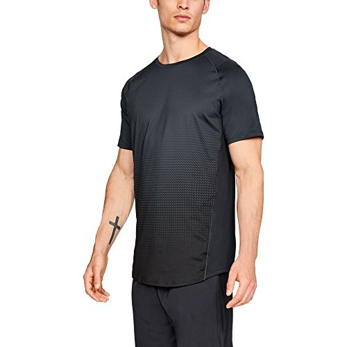 Under Armour Men's MK-1 Dash Fade Short Sleeve Shirt, Anthracite (016)/Stealth Gray, Large