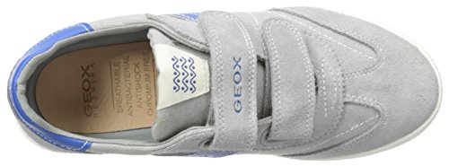 Geox Jr Kilwi Boy, Zapatillas para Niños Multicolor (Grey/Royal)