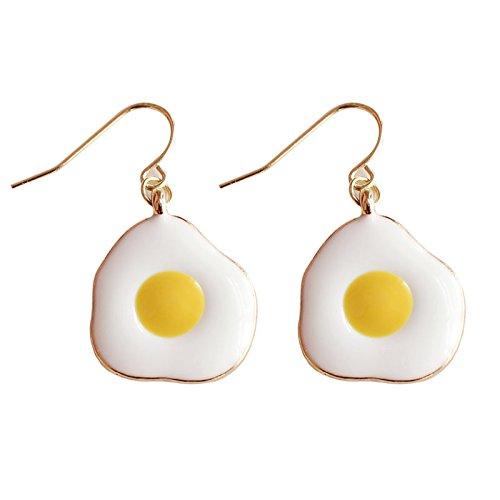 Sunliy Stud Earrings Egg Diamond Pendant Earrings Women's Claw Chain Fashion Earrings Boho for Women Girls Lady 3.21.9cm