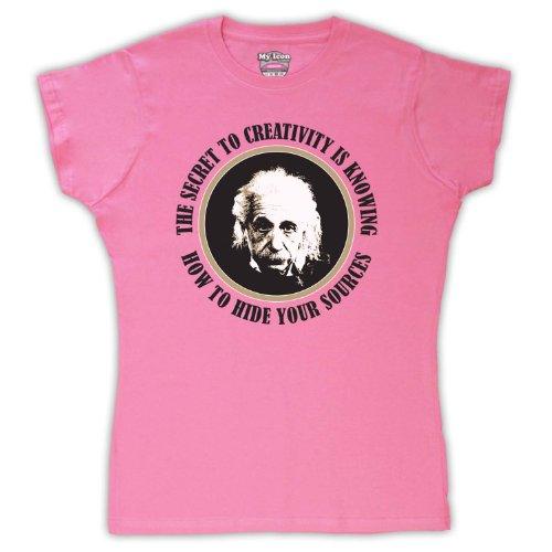 Albert Einstein Secret To creatividad para mujer T-Shirt Rosa