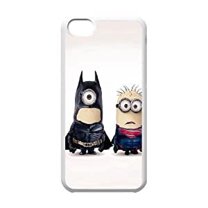 Durable Hard cover Customized TPU case Batman and Superman iPhone 5c Cell Phone Case White