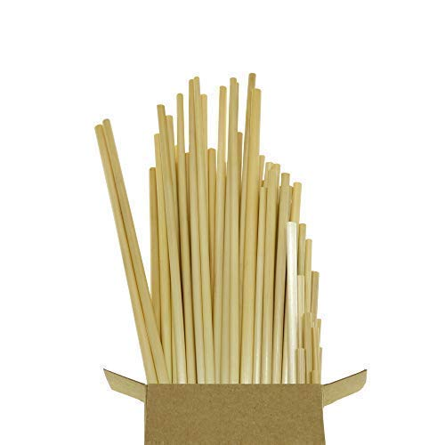OWheat All Natural Biodegradable Wheat Drinking Straws, 7.75 inches 100 Pack - Compostable, Alternative to Plastic, Bamboo, Paper, Steel, Silicone - Eco Friendly, Reduce Plastic Waste ()