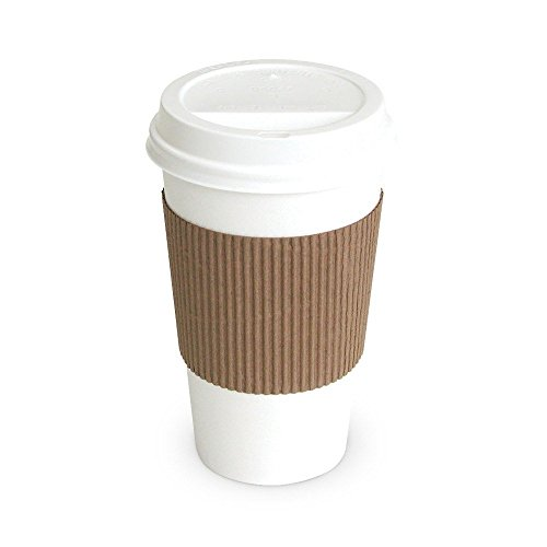 100-paper-coffee-cup-disposable-hot-cup-12-oz-white-with-100-cappuccino-lids-and-100-sleeves