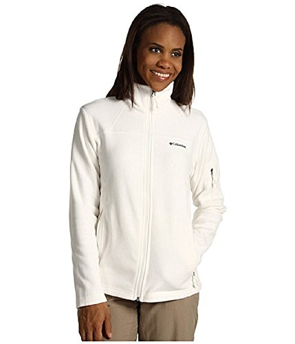 Columbia Cool Intervention Women's Fleece Jacket Coat (Medium, Ivory)