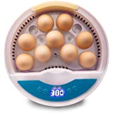 SIMEEGO Egg Incubator, with 9 LED Luminous Egg Candle Tester and Temperature Control Function, Heat Preservation and Water Re