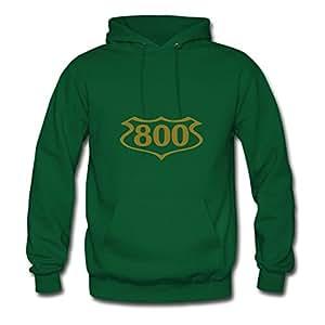 X-large Women 800_shield Lightweight Designed Green Cotton Hoody