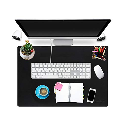 Multifunctional Office Desk Pad 22'' x 17'', NPET P10 Ultra Thin Waterproof PU Leather Mouse Pad, Extended Large Mat with Non-Slip Rubber Base, Dual Use Desk Writing Mat for Office/Home