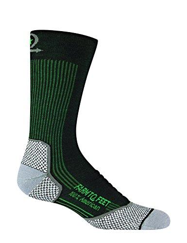 Farm to Feet Men's Damascus Lightweight Crew Socks, Black, X-Large