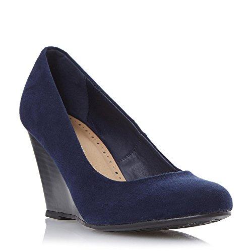 Marine Amaya Compensé Vianni En Talon Chaussures Bleu Mesdames Roberto Cour BHnzw